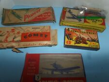 6 VINTAGE WOODEN AIRPLANE KITS