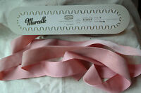"10y bolt vtg pink velvet Swiss 1 1/2"" 1.5"" rayon ribbon Millinery hat doll dress"