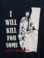 Vtg Scar Face Movie Gina Montana I Will Kill For Some T Shirt Black Sz S Rare