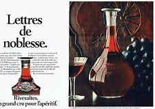 PUBLICITE ADVERTISING 027  1979  Le muscat Rvesaltes (2p) lettres de noblesse