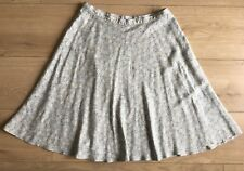 M&S Vintage St Michael Pale Blue Floral Daisy Print Flared High Waisted Skirt 12