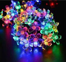 LED Solar String Lights Blossom Christmas Tree Garden Party Wedding Fairy Lamp