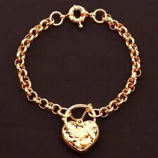 """9ct 9k Yellow """"Gold Filled"""" Ladies Lovely Belcher Bangle Bracelet. 8.7"""" Gift"""