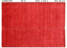 Red Modern Discount Rugs Handmade Carpet 5x8