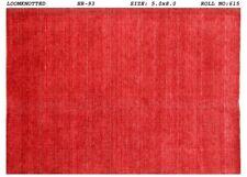 Red Modern Discount Rugs Handmade Carpet 5x8