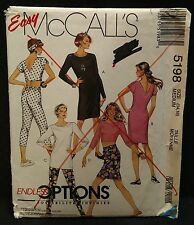 McCall's 5198 Stretch Knits Tunic Skirt Leggings Headband Med 14-16 OOP Uncut FF