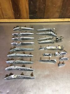 Triumph TR3 TR3A TR3B • Large Lot of Assorted Trunk / Deck Lid Hinges.   T1618