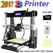 Anet A8 LCD DIY 3D Printer Kit Acrylic Frame Reprap Prusa i3 220*220*240mm A8J4