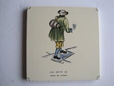 "VINTAGE CARTER ""CRIES OF LONDON"" TILE - FINE WRITING INK c1955"