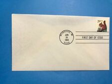 #2489 1993 Fdc Red Squirrel M045 Ua Pm Milwaukee Wi