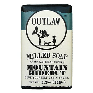 Outlaw Soaps Mountain Hideout Milled Bar Soap 4.2 oz
