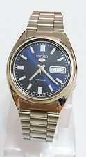 SEIKO 5 SNXS77 Stainless Steel Band Automatic Men's Blue Watch SNXS77K1 New