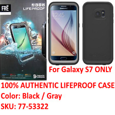 Authentic Lifeproof Case WaterProof For Samsung Galaxy S7 ONLY Black / Gray