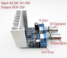 Constant Current Voltage Module Input AC/DC5-16V Output DC0-15V 0-1A Regulator