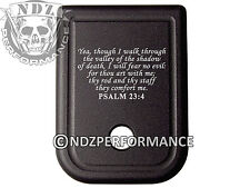 For Glock Magazine 10mm .45 cal BLK Plate 20 21 29 30 40 41 Bible Psalm 23:4