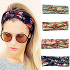 Women Flower Turban Twist Knot Head Wrap Headband Elastic Hair Band Headdress