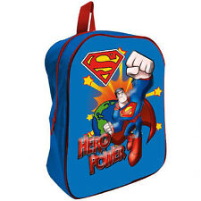 SUPERMAN zainetto per asilo blu con frontale 3D da bambino