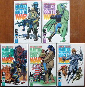 MARTHA WASHINGTON GOES TO WAR Complete Series #1-5 NM/MT Comics FRANK MILLER