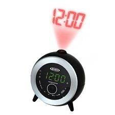 JENSEN CEILING WALL LED PROJECTION PROJECTOR DUAL ALARM CLOCK RADIO NEW