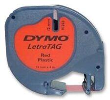 Dymo 12mm letratag ruban étiquette plastique cosmique rouge 4m