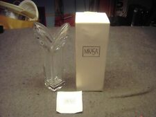 "Mikasa Clear With Deco Pattern 11 3/4"" Crystal Vase"