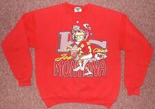 vintage Joe Montana caricature sweatshirt sweater Kansas City Chiefs size MEDIUM