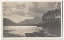 Lake District; Moonlight on Derwentwater RP PPC, Unposted, c 1910's By Abraham