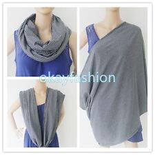 100%Cotton Infinity Nursing/Breastfeeding Scarf(Stripe Black & White)Baby Cover