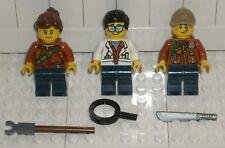 LEGO CITY NEW Scientist Female & Male Explorer 60157 Minifigure Jungle Starter