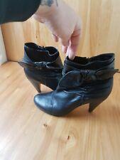 Ladies Size 6 Black Heeled Boots