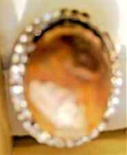 Brown Pancawarna Agate Alloy Ring (Indonesia)