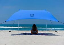 Neso Beach Tent with Sand Anchor, Portable Sun Shade Periwinkle Blue, Patented