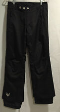 Five Fifty Five Women Black Triple Nickle Snow Ski Snowboarding Pants  EUC Sz 14