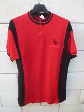 Maillot cycliste PEUGEOT vintage 70's trikot shirt jersey camiseta rare rouge L