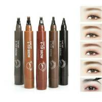 4 Points Eyebrow Pencil Tattoo Fork Tip Sketch Enhancer Waterproof Eye Brow Pen