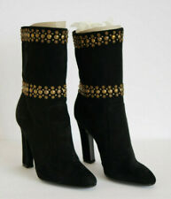 TAMARA MELLON - WOMEN – Downtown Studs Black Suede Boots – Size 38, New