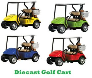 Diecast Golf Cart Model Gift Caddy Clubs Vehicle Car For Golfing