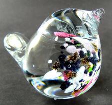 VINTAGE ART GLASS SIGNED HALLING GLASS FIGURINE BIRD PAPPERWEIGHT 1 (W1-2)