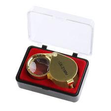 Triplet Jewelers Eye Loupe Magnifier Glass Jewelry Diamond 10x21mm Gold