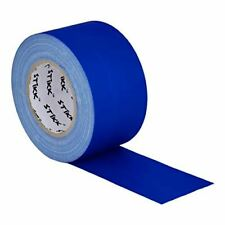 "3"" x 60 Yard 72mm x 55 m 11 mil STIKK Blue Gaffers Tape No Residue Cloth Matte"
