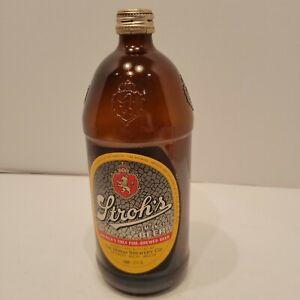Vintage Stroh's Bohemian Beer Bottle 32oz with screw top