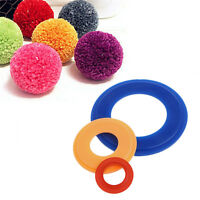 2X Pompom Maker Fluff Ball Weaver Weaving Knitting Needle Craft DIY Tool 3 Sizes