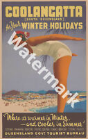 AUSTRALIA HIGH QUALITY RETRO VINTAGE COOLANGATTA Q.L.D. TRAVEL POSTER PRINT