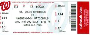 2014 Nationals vs Cardinals Ticket: Denard Span walk-off sacrifice fly in 9th