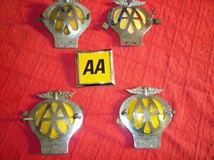 5 X AA BADGES VARIOUS CONDITION