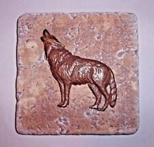 Wolf tile mold plaster cement coyote travertine casting mould