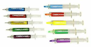 New Year gift Nurse Highlighter And Pen Set - 5 Syringe Pens+Highlighters 10pc