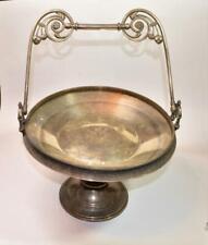 Antique Reed & Barton silver plated Pedestal Bridal Basket Candy Dish 3585