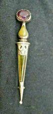Brooch Adie & Lovekin C.1910 Victorian Antique Silver Scottish Dirk Bar
