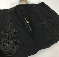 RRL Double RL Ralph Lauren Womens Pants Black 27 Beaded Buckle Back